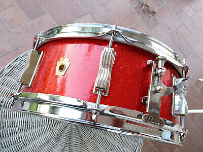 LUDWIG SNARE JAZZ festival  RED SPARKEL VINTAGE DRUM SET BATTERIA