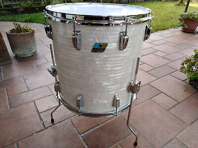 LUDWIG  FLOOR TOM  WHITE MARINE PEARL 16 X 16  VINTAGE 70/80s  drum set batteria