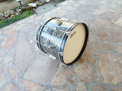 "LUDWIG 20"" x 14"" BASS DRUM BLACK OYSTER  CLUB DATE VINTAGE 60s drum set"