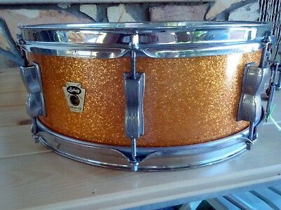LUDWIG SNARE JAZZ festival GOLD SPARKLE 1955 VINTAGE DRUM SET BATTERIA