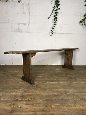 Antique Victorian School Bench