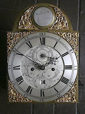 C1750 8 day moonphase  LONGCASE GRANDFATHER CLOCK DIAL+movement 12X16+1/4