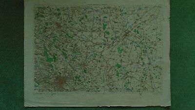 "1"" Ordnance Survey Map 37 Sheffield Doncaster Barnsley 1910 Bawtry Mexborough"