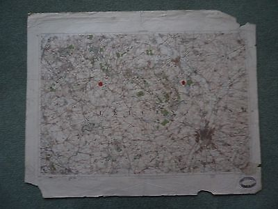 """1"""" Ordnance Survey Map 63 Leicester 1909 Atherstone Old Dalby Ashby Loughboroug"""