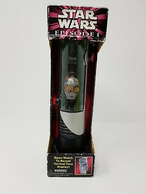 New Star wars C-3PO Collectors watch with lightsaber display case Episode 1