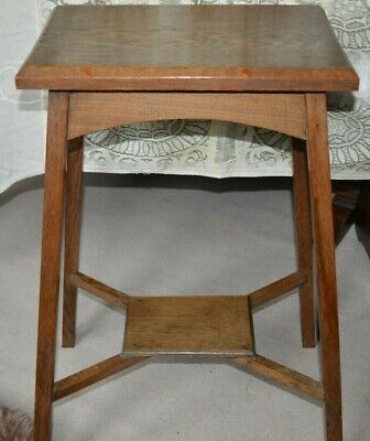 Occasional side table. Arts & Crafts Style, Oak. Tall Excellent condition