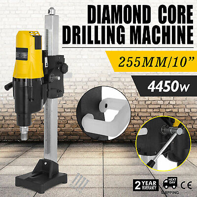 4450W Wet/Dry Variable Speed Diamond Core Drill Drilling Machine Ø 255mm w/Stand