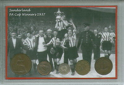 Sunderland AFC Vintage F.A Cup Final Winners Coin Present Display Gift Set 1937