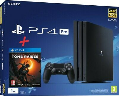 Sony Ps4 1Tb Pro Gamma,Console Black Playstation 4K, Hdr Wifi