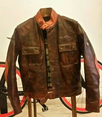85c1f48caca BELSTAFF Steve Mcqueen leather jacket giacca rare 42 xs no barbour Gucci  Armani