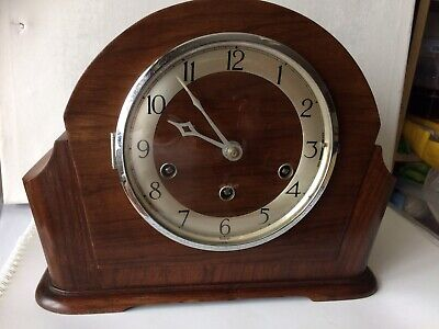 Vintage Mauthe Westminster Chime Mantle Clock Working Order