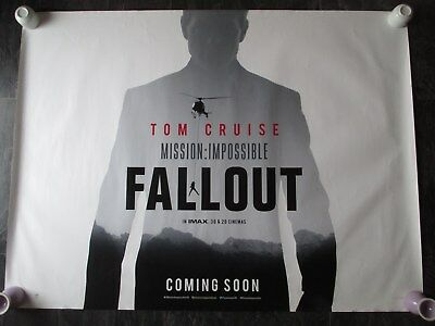 Mission Impossible Fallout Original Uk Movie Poster Quad Double-Sided 2018 Rare!