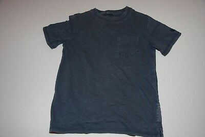 Boys Fat Face - blue t-shirt - (age 6 years)