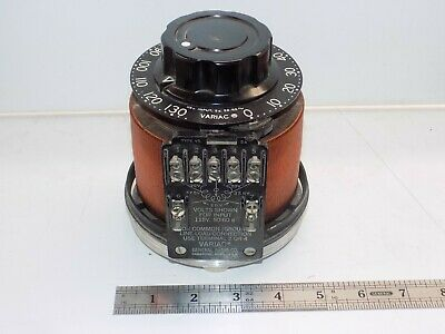 Variac Adjustable Power Transformer, 0-130Vac, 5A, Made In U.s.a. Hot Wire