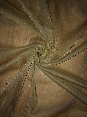 """NEW 3 MTR SOFT GOLD TULLE STUDDED BRIDAL//DECORATION NET FABRIC..45/"""" WIDE"""
