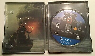 God Of War Sony Playstation 4 Ps4 Collector's Edition Steelbook Case & Game