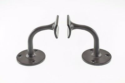 42mm to 50mm Stair Handrail Wall Mounted Brackets Support Round Rail DIY (2 pcs)