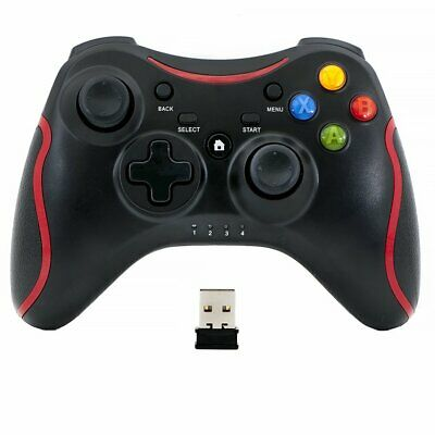 Wireless Bluetooth Remote Pad Game Controller for PC Windows 7 10 Joypad Black