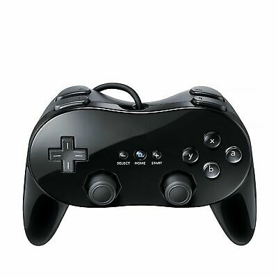 Black Classic Pro Controller for Nintendo Wii Game Remote