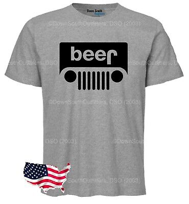 Beer Jeep Drinking T shirt Novelty Funny Gift Dad Him Fathers Day Dso