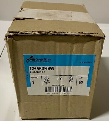 NIB Cooper Crouse Hinds CH560R9W 60 Amp Receptacle
