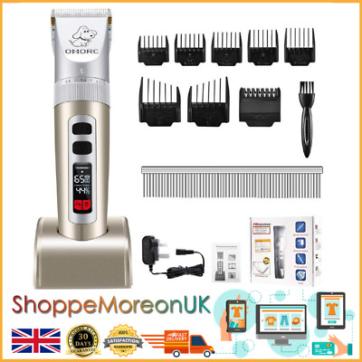 OMORC Cordless Dog Clippers, Professional Grooming Clippers with Large LCD...