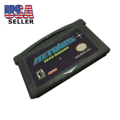 Portable US Version Metroid Zero Mission Game Card for Nintendo GBA Consoles USA