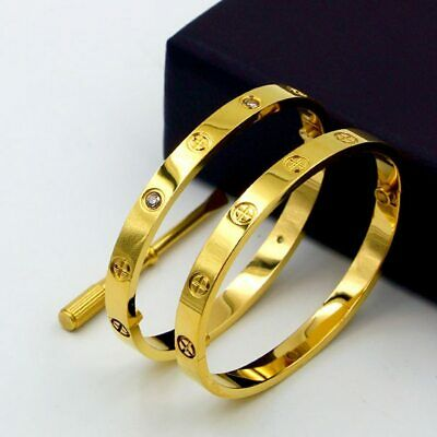 High Quality Stainless Steel Love Bangle Bracelet with Screwdriver Fast Shipping