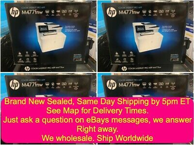 New! HP LaserJet Pro MFP M477FNW Color All In One Printer Ships same day see map