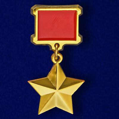 "USSR AWARD ORDER - Mini badge ""Star Of Hero Of The Soviet Union"""