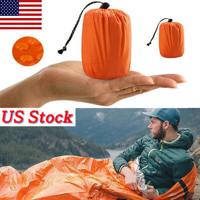 Camping Thermal Sleeping Bag Emergency Survival Hiking Blanket Gear Kit Outdoor*
