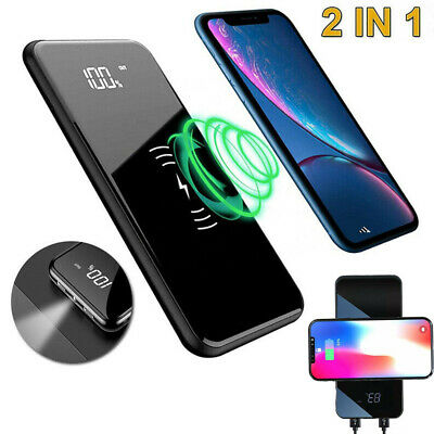 50000mAh Digital Power Bank LED Dual USB Backup Battery Charger Fr Mobile Phone