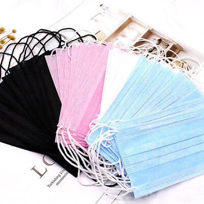 50Pcs Disposable Medical Surgical Dust Ear Loop Face Mouth Unisex Masks