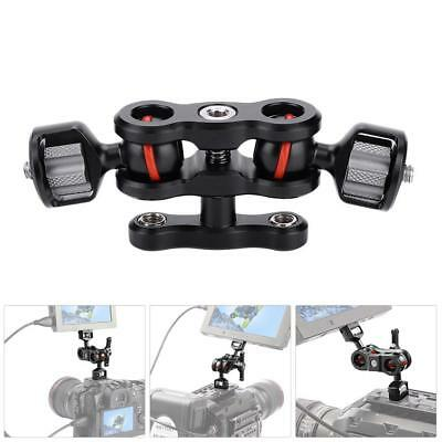 Multi-Function Dual Ball Head Hot Shoe Magic Arm Mount Adapter Camera DT