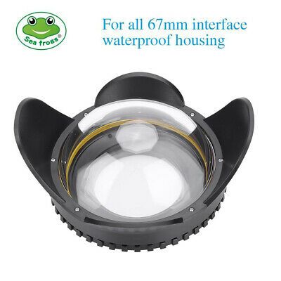 67mm Optical Fisheye Lens Shade Wide Angle Dome Port Lens Underwater Housing DT