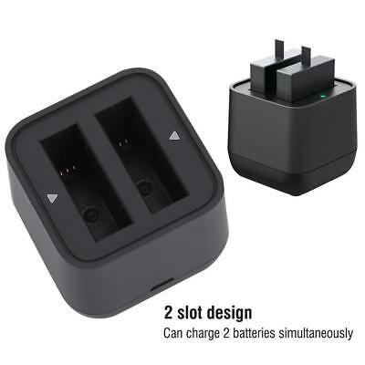 Dual Camera Battery Charger USB Port For Insta360 One X Action Sports Cameras DT