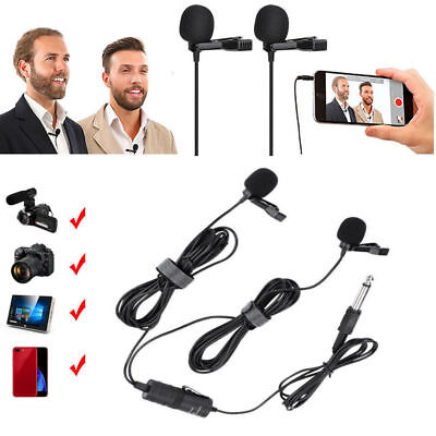 BOYA BY-M1DM Dual Lavalier Omni-directional Microphone For Smartphone & DSLR DT