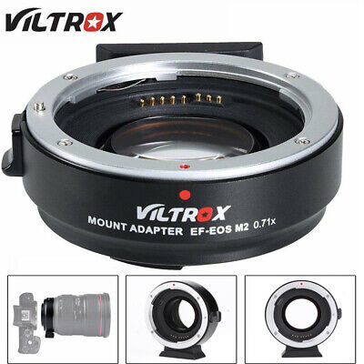 VILTROX EF-EOS M2 Adapter AF0.71x Speed Booster For Canon EF Lens to EOS-M DT
