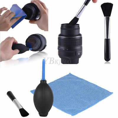 3 in 1 Lens Cleaning Cleaner Dust Blower Cloth Kit For DSLR VCR Camera DT