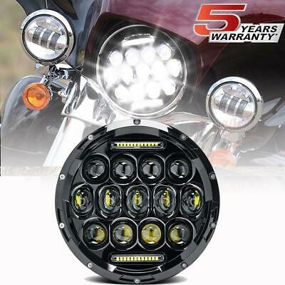 """7"""" inch Round LED Projector Black Headlight for Jeep Wrangler JK TJ Motorcycle"""