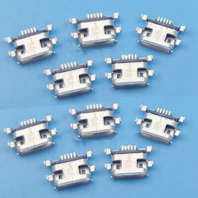 10 Pcs Micro USB Type B Female 5 pin SMT Placement SMD DIP Socket Connector MET
