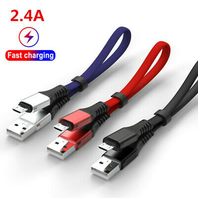 2.4A Flat 0.3M 1M Micro USB/Type C Fast Charging Charger Data Sync Cable Cord