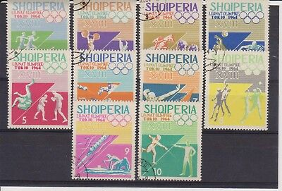 -(18) Albania 1964 Stamps Set. SPORT. SG 842-851. NH