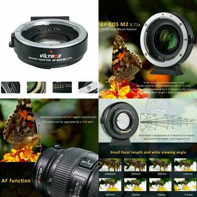 VILTROX EF-EOS M2 Lens Adapter 0.71 for Canon EF Lens to EOS EF-M