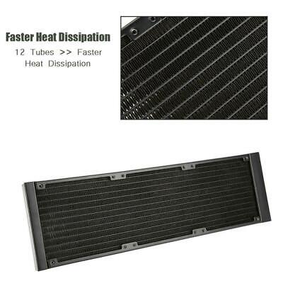 Aluminum G1/4 120/240/360mm Water Cooling Tube PC CPU Heat Exchanger Radiator XX