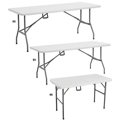 CAMPING CATERING FOLDING DINING TABLE TRESTLE PICNIC BBQ PARTY COMPUTER LAZYTRAY