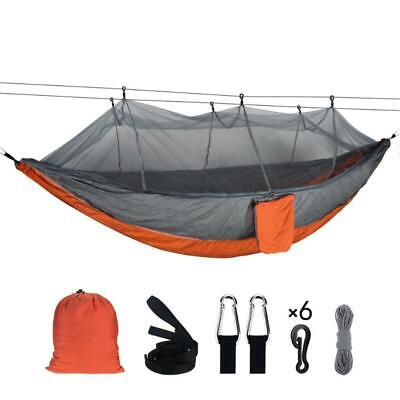 Camping Hammock Tent Mosquito Net Set 2 Person Outdoor Travel Double Hanging Bed