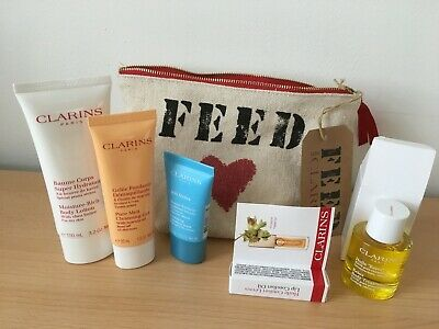 Clarins FEED Toiletry Face and Body Gift Set - NEW