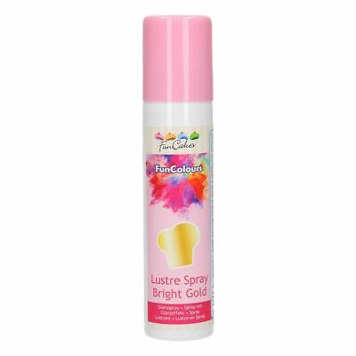 FunCakes FunColours Metallic Spray -Bright Gold- 100ml