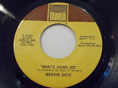 Marvin Gaye What's Going On / God Is Love 45 1971 Tamla Soul Vinyl Record